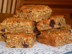 Banana and Honey Oat Squares
