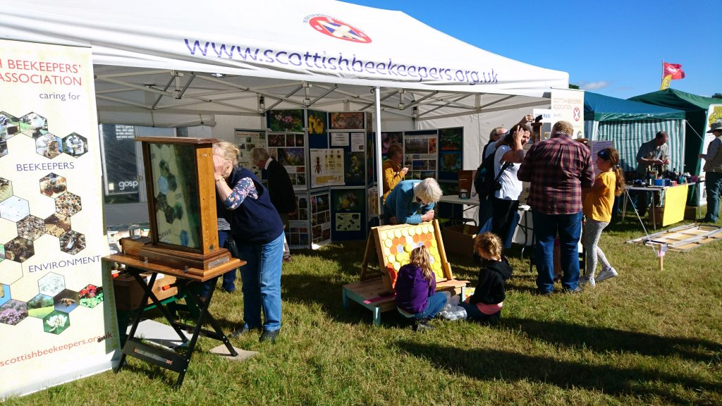 Dunfermline Beekeepers and Fife Beekeepers joint display at 2016 Kinross Agricultural Show