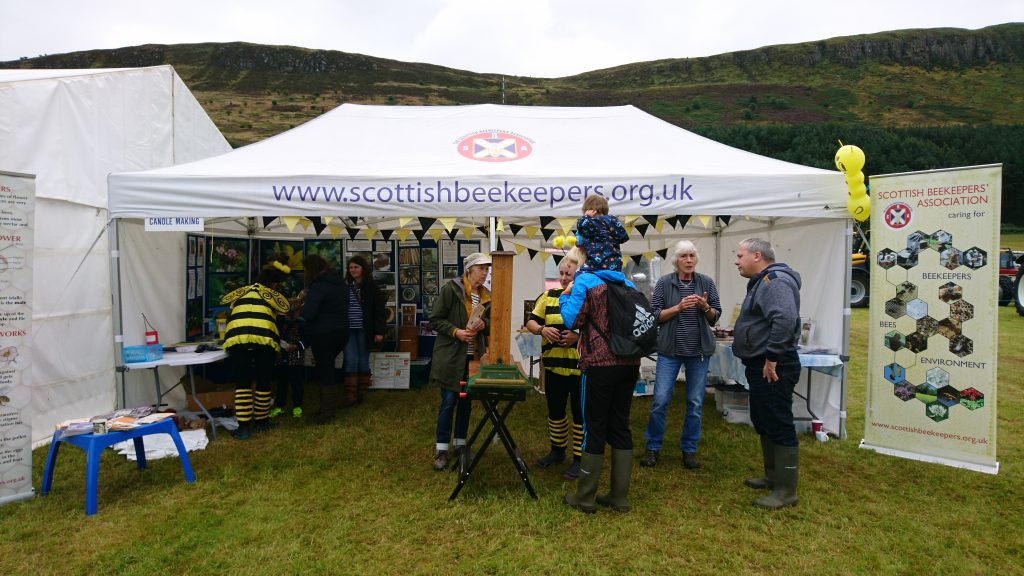 Kinross Agricultural Show 2017 Joint Fife and Dunfermline Beekeepers stand