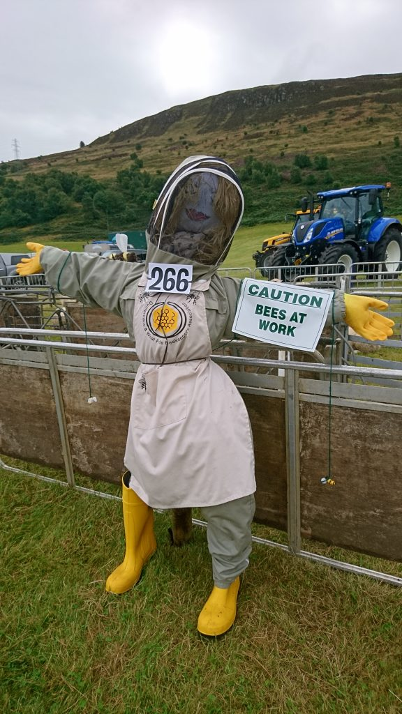 Kinross Agricultural Show, 2017 Scarecrow competition This entry was from Claire Paton, Dunfermline Beekeepers She came 2nd